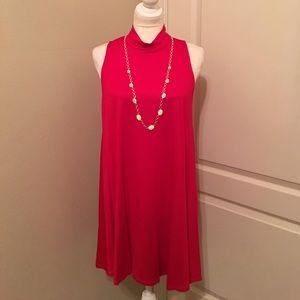 RED Trapeze Dress/Tunic